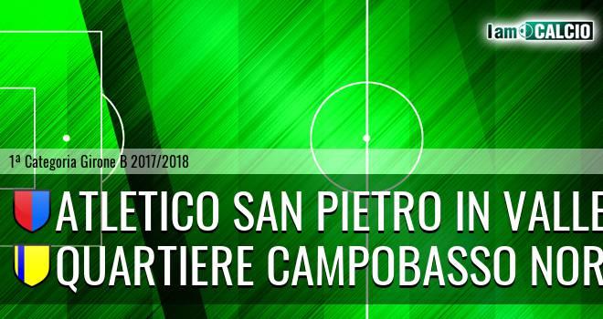 Atletico San Pietro in Valle - Quartiere Campobasso Nord 1-0. Cronaca Diretta 01/05/2018
