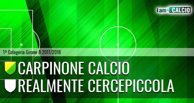 Carpinone Calcio - Realmente Cercepiccola