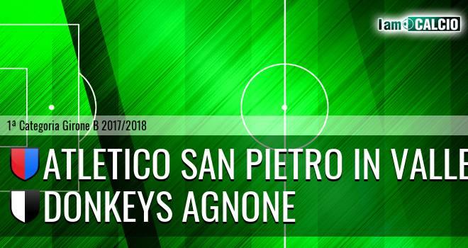 Atletico San Pietro in Valle - Donkeys Agnone 3-4. Cronaca Diretta 16/05/2018