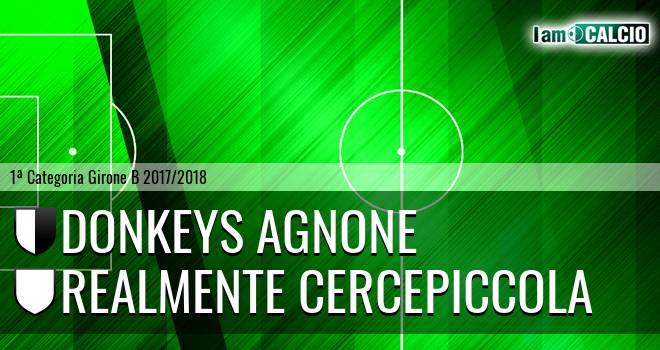 Donkeys Agnone - Realmente Cercepiccola 5-0. Cronaca Diretta 13/05/2018