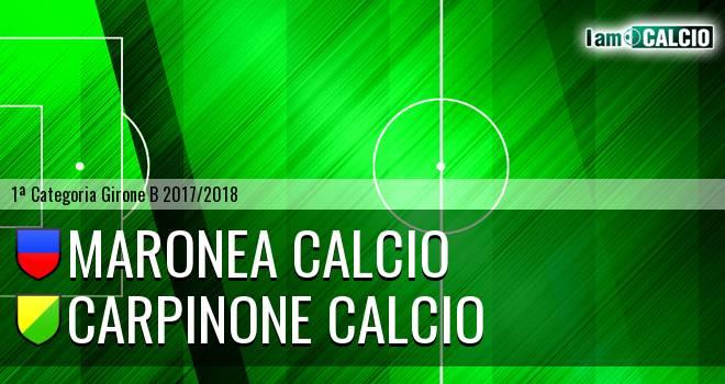Maronea Calcio - Carpinone Calcio