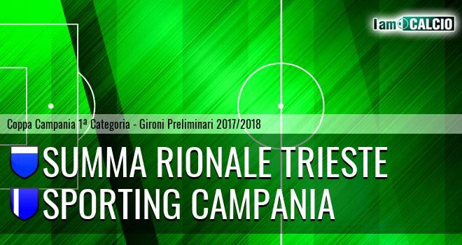 Summa Rionale Trieste - Sporting Campania