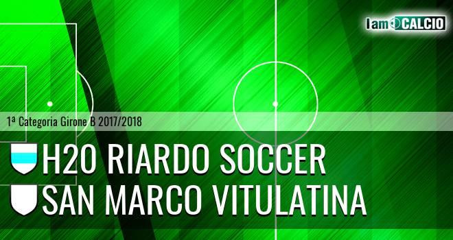 H20 Riardo Soccer - San Marco Vitulatina 2-0. Cronaca Diretta 18/02/2018