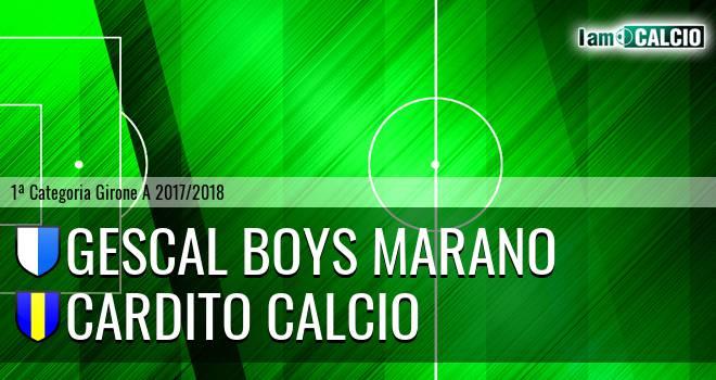 Gescal Boys Marano - Cardito Calcio