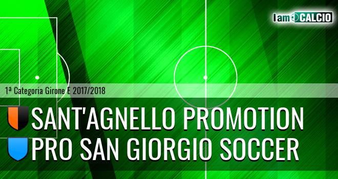 Sant'Agnello Promotion - Pro San Giorgio Soccer