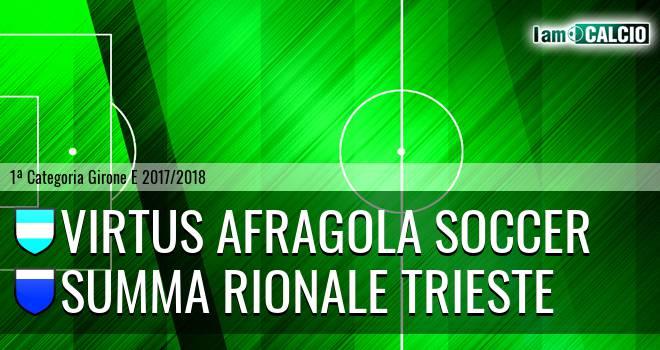 Virtus Afragola Soccer - Summa Rionale Trieste
