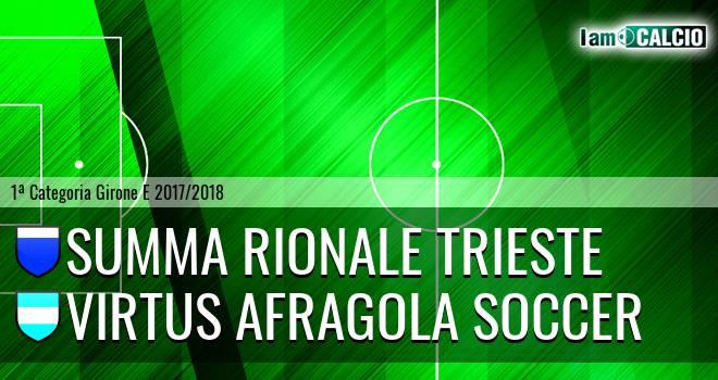 Summa Rionale Trieste - Virtus Afragola Soccer