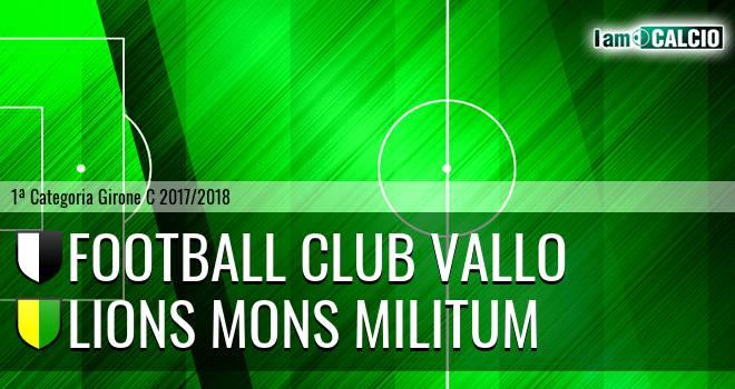 Football Club Vallo - Lions Mons Militum