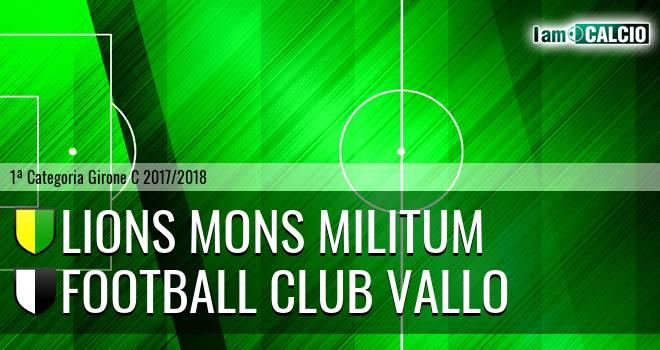 Lions Mons Militum - Football Club Vallo