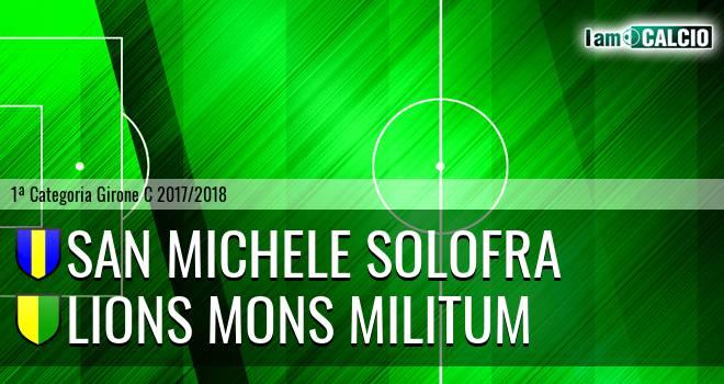 San Michele Solofra - Lions Mons Militum