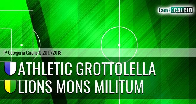 Athletic Grottolella - Lions Mons Militum
