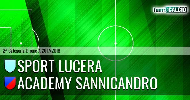 Sport Lucera - Academy Sannicandro