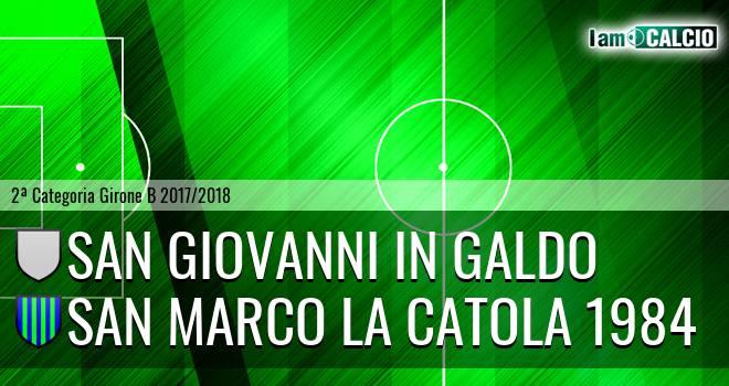 San Giovanni in Galdo - San Marco la Catola 1984