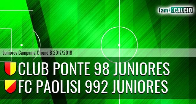 Ponte '98 Juniores - FC Paolisi 992 Juniores