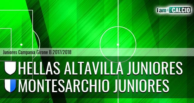Hellas Altavilla Juniores - Montesarchio Juniores