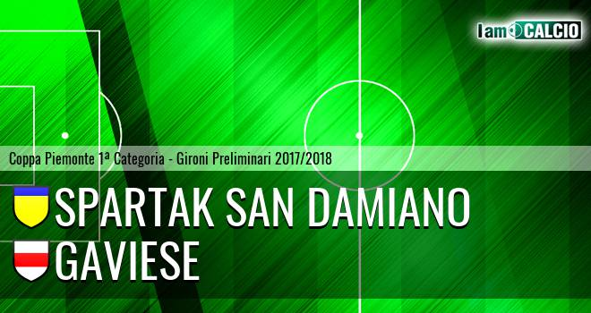 Spartak San Damiano - Gaviese