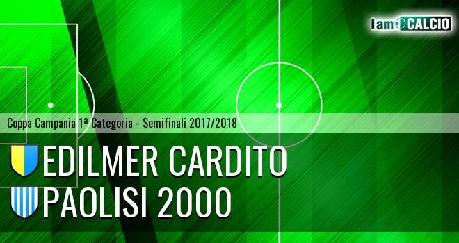 Edilmer Cardito - Paolisi 2000 1-1. Cronaca Diretta 21/02/2018