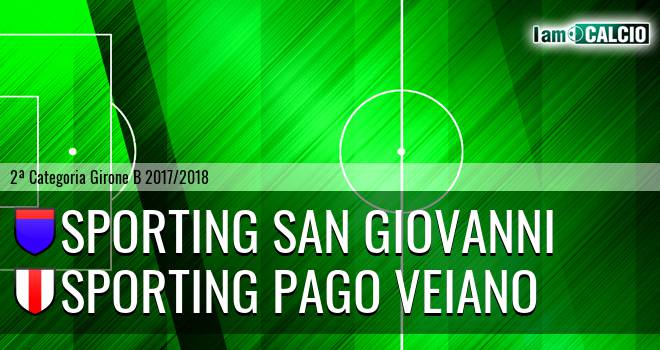 Sporting San Giovanni - Sporting Pago Veiano