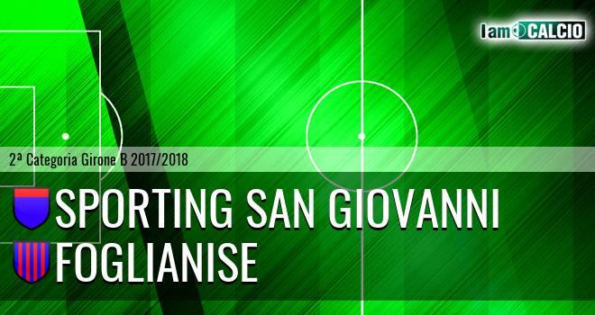 Sporting San Giovanni - Foglianise