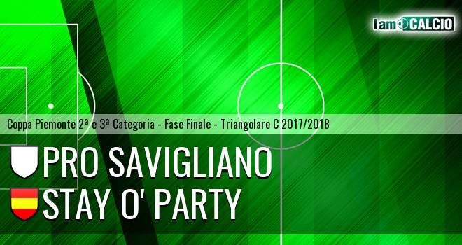 Pro Savigliano - Stay O' Party
