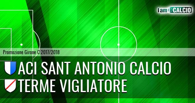 Aci Sant' Antonio Calcio - Terme Vigliatore