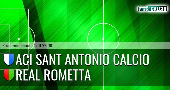 Aci Sant' Antonio Calcio - Real Rometta