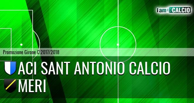 Aci Sant' Antonio Calcio - Meri
