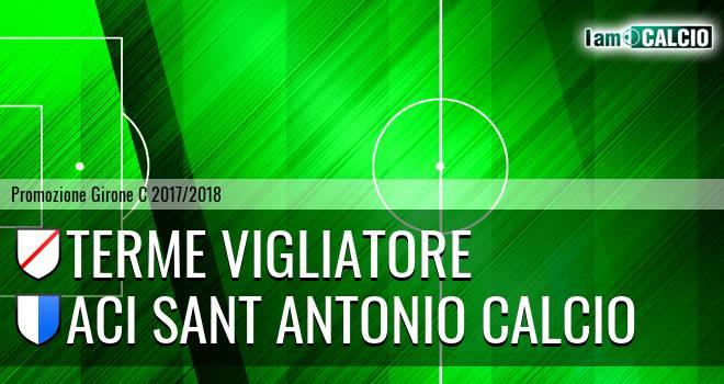 Terme Vigliatore - Aci Sant' Antonio Calcio