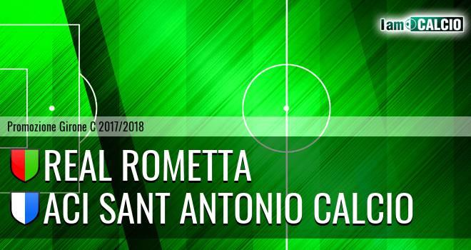 Real Rometta - Aci Sant' Antonio Calcio