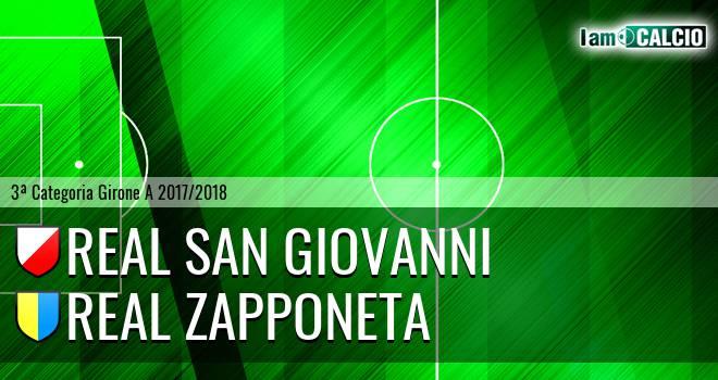 Real San Giovanni - Real Zapponeta 1-3. Cronaca Diretta 25/02/2018