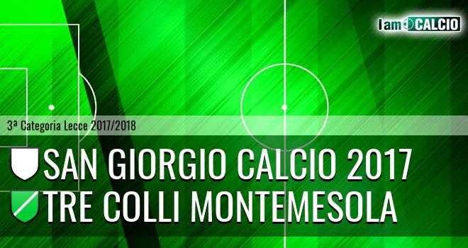 San Giorgio Calcio 2017 - Tre Colli Montemesola