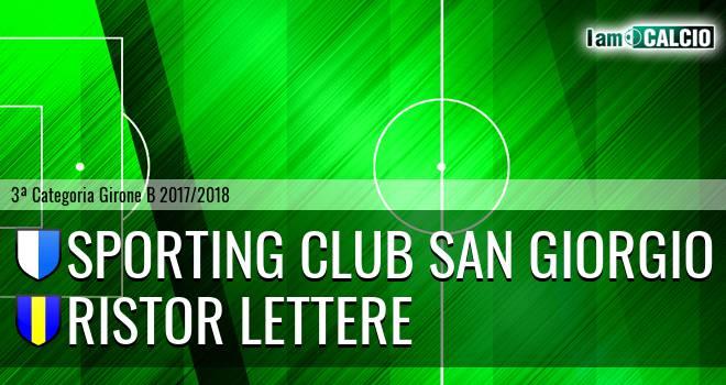 Sporting Club San Giorgio - Ristor Lettere