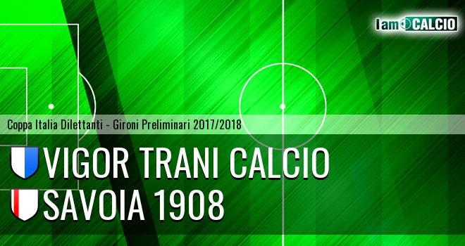 Vigor Trani Calcio - Savoia 1908 2-1. Cronaca Diretta 21/02/2018