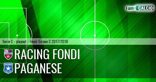 Racing Fondi - Paganese 2-2. Cronaca Diretta 19/05/2018