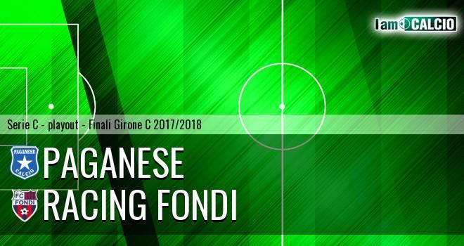 Paganese - Racing Fondi 2-1. Cronaca Diretta 26/05/2018