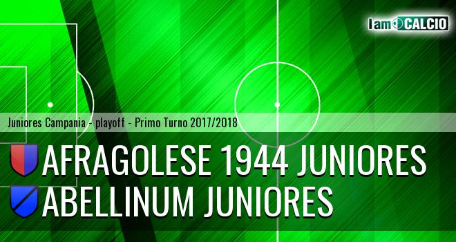 Afragolese 1944 Juniores - Abellinum Juniores 3-0. Cronaca Diretta 09/04/2018