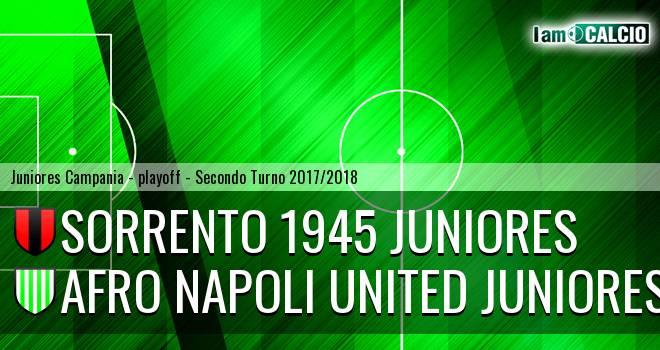 Sorrento 1945 Juniores - Afro Napoli United Juniores 3-0. Cronaca Diretta 11/04/2018
