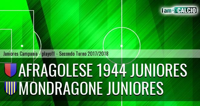 Afragolese 1944 Juniores - Mondragone Juniores 1-2. Cronaca Diretta 12/04/2018