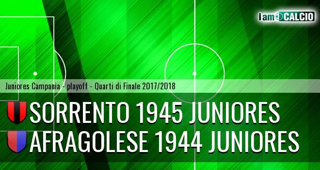 Sorrento 1945 Juniores - Afragolese 1944 Juniores 3-0. Cronaca Diretta 19/04/2018