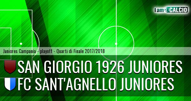 San Giorgio 1926 Juniores - FC Sant'Agnello Juniores 1-0. Cronaca Diretta 19/04/2018