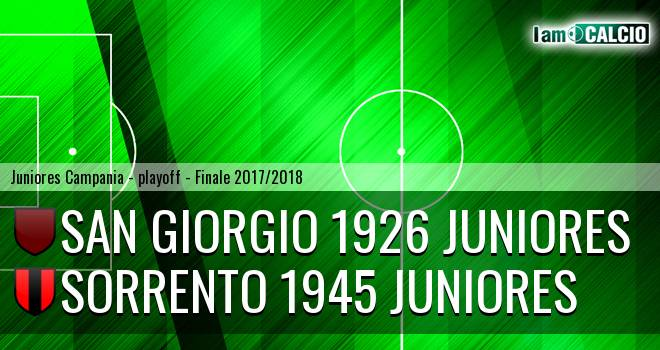 San Giorgio 1926 Juniores - Sorrento 1945 Juniores