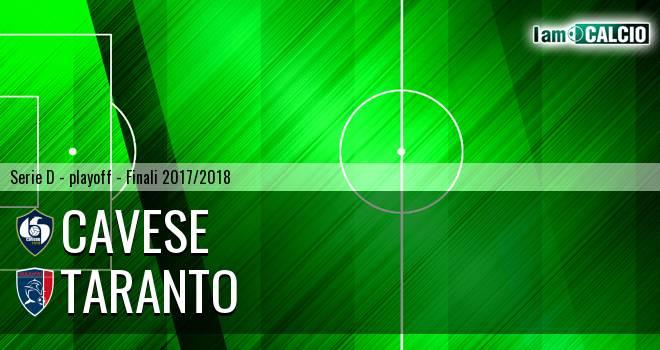 Cavese - Taranto 3-1. Cronaca Diretta 20/05/2018