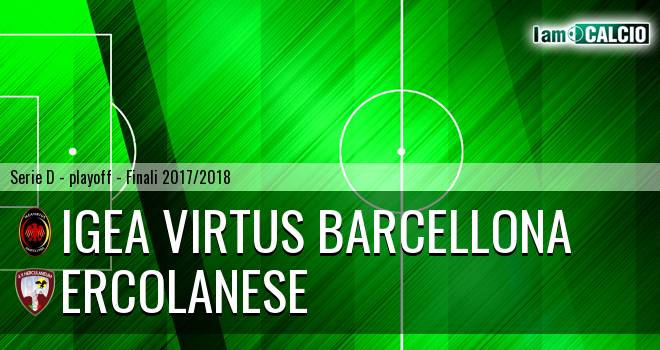 Ercolanese - Igea Virtus Barcellona 0-3. Cronaca Diretta 27/05/2018