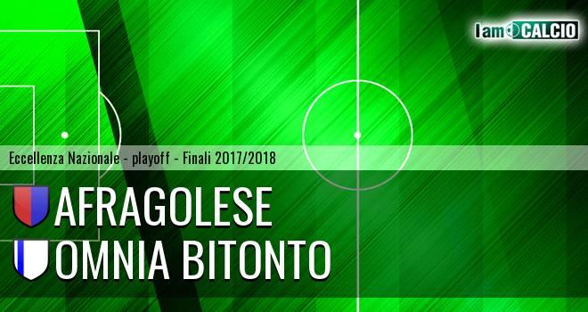 Afragolese - Omnia Bitonto 2-0. Cronaca Diretta 03/06/2018
