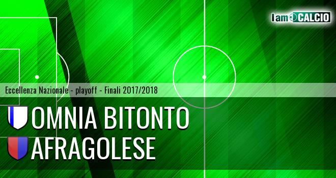 Omnia Bitonto - Afragolese 6-3. Cronaca Diretta 10/06/2018