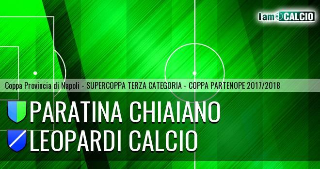 Paratina Chiaiano - Leopardi Calcio