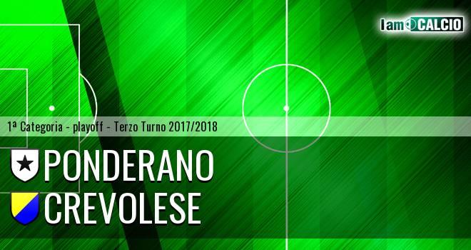 Ponderano - Crevolese 0-1. Cronaca Diretta 03/06/2018