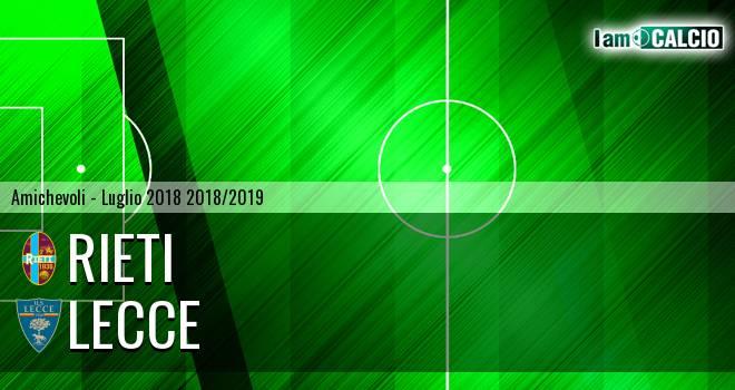 Rieti - Lecce 0-3. Cronaca Diretta 26/07/2018