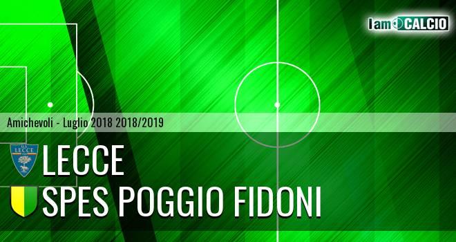 Lecce - Spes Poggio Fidoni 12-0. Cronaca Diretta 24/07/2018