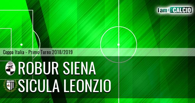 Robur Siena - Sicula Leonzio 2-0. Cronaca Diretta 29/07/2018